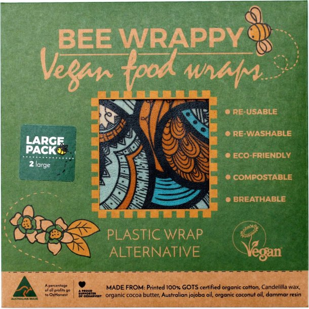 Bee Wrappy veganske wraps - 2 x Large