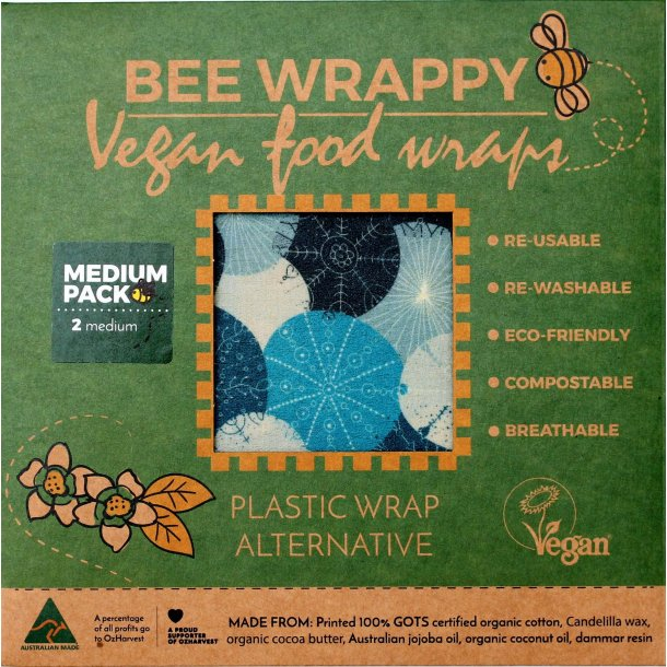 Bee Wrappy veganske wraps - 2 x Medium